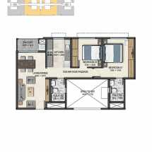 Sobha Dream Acres Floor Plan 1000  2 BHK